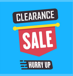 Social media clearance sale banner vector