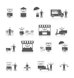 Street food icon black vector image vector image