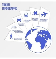 Travel infographics web design modern paper vector