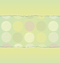 Vintage card design Polka dot background scribble vector image