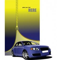 zipper car vector image vector image