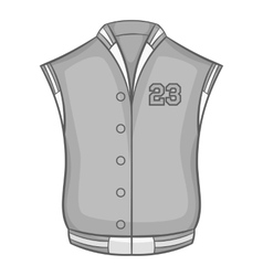 Sports vest icon black monochrome style vector