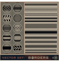 Boarder set vector