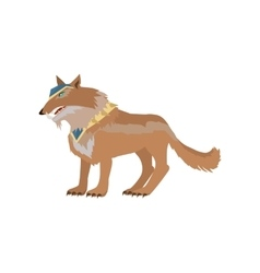 Fantastic Wolf in Flat Design vector image