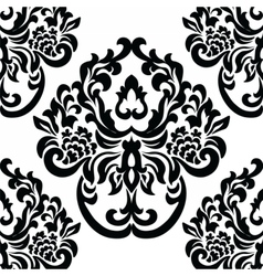 Vintage damask royal ornament pattern vector