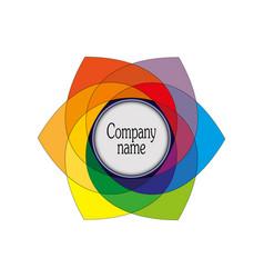 Emblem a symbol of multi-colored hexagonal vector