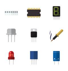 Flat device set of recipient receiver receptacle vector