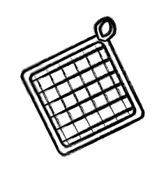 Kitchen potholder object vector