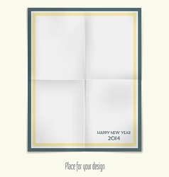 folded paper for holidays 2 vector image