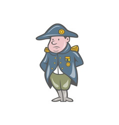 French military general cartoon vector
