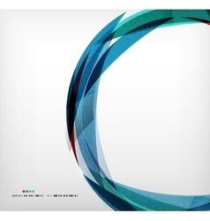 Blue ring - business abstract bubble vector image