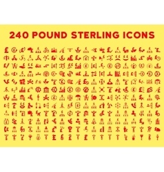 240 flat business icons vector