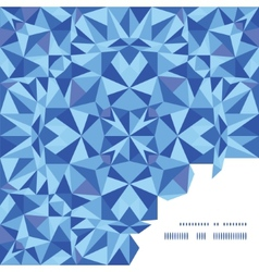 Blue triangle texture frame corner pattern vector