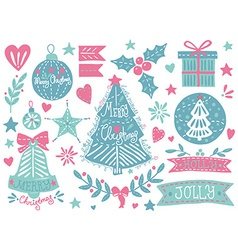 Christmas grunge set vector