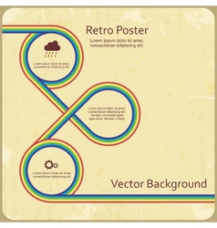 Abstract retro lines background vector