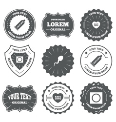 Safe sex love icons condom in package symbols vector