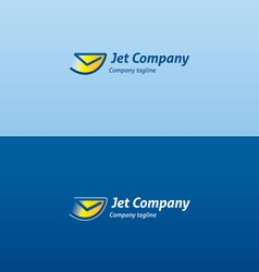 Jet envelope check flying logo vector