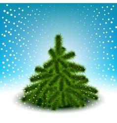 Little fluffy christmas tree vector