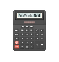 calculator object vector image