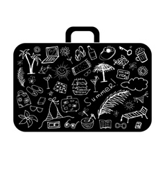 Summer holiday suitcase vector