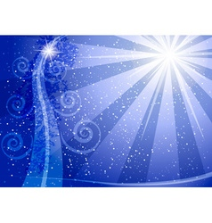 Romantic blue sparkling background vector