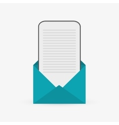 Communication design email icon flat vector