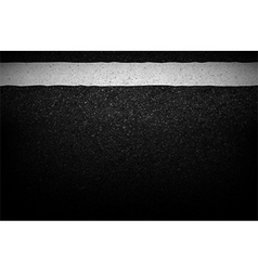 Asphalt texture with road markings background vector image