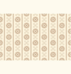 Beige seamless vintage ornamental pattern vector