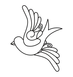 birds tattoo isolated icon design vector image