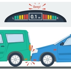 Car accident flat isolated vector