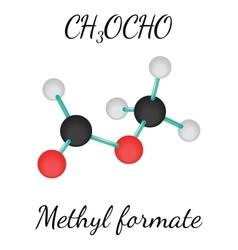 Ch3ocho methyl formate molecule vector