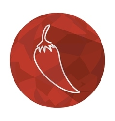 chili pepper vegetable fresh icon vector image