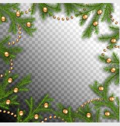 christmas spruce frame vector image