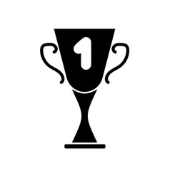 cup winner sign mono 2903 vector image