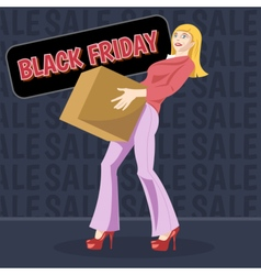 Digital black friday sale inscription vector image vector image