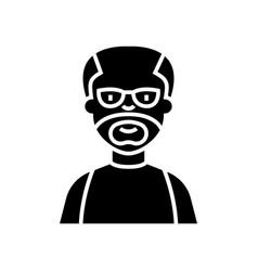 elder man - grandfather icon vector image vector image