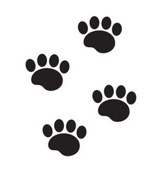 Foot marks of an animal icon flat cartoon style vector