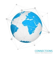 Global network connection vector image vector image