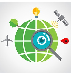 GlobalSearch vector image vector image