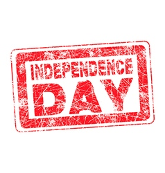 Grunge isolated red stamp for 4th july vector