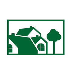 luxury eco friendly house vector image