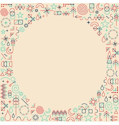 Mono line frame hipster background vector