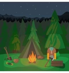 Night Campfire Design vector image vector image