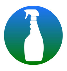 plastic bottle for cleaning white icon in vector image vector image