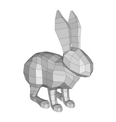 polygonal abstract rabbit vector image vector image