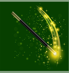 Realistic magic wand vector