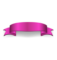 Satin empty ribbon banner vector