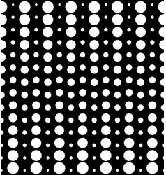 Seamless pattern different sized circles vector