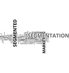 Segmented word cloud concept vector