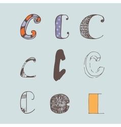 Set of colorful alphabet letters c vector